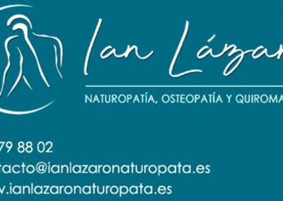 Ian Lázaro, Naturópata – Osteópata