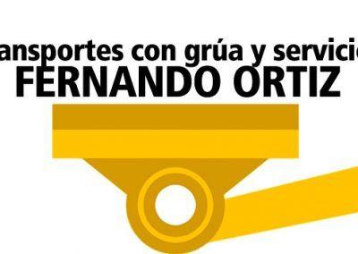 Transportes con grúa y servicios Fernando Ortiz